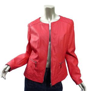 Bestia Coral Faux Leather Moto Jacket RUNS SMALL